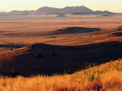 Davis Mountains State Park and Marfa Plain from Park Scenic Drive, Marfa, Texas-Witold Skrypczak-Photographic Print