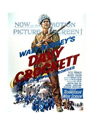 Davy Crockett: King of the Wild Frontier - Movie Poster Reproduction--Art Print