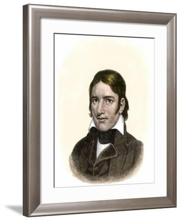 Davy Crockett--Framed Giclee Print
