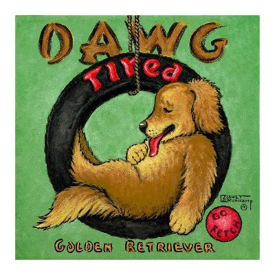 Dawg Tired-Janet Kruskamp-Art Print