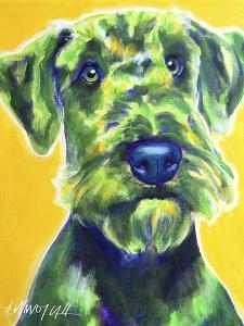 Airedale Terrier - Apple Green by Dawgart