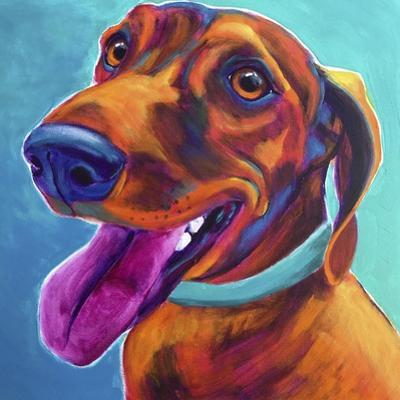 Dachshund - Turquoise by Dawgart