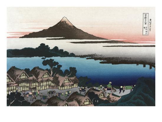 Dawn At Isawa In Kai Province Art Print Katsushika Hokusai Art Com