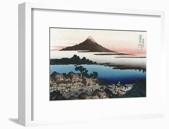 Dawn at Isawa in Kai Province-Katsushika Hokusai-Framed Art Print