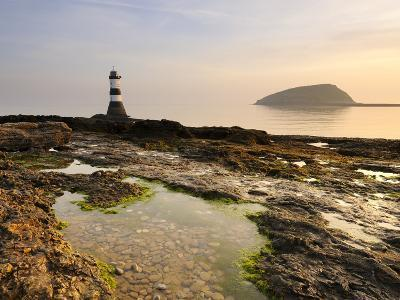 Dawn at Penmon Lighthouse, Penmon Point, Anglesey, North Wales, Wales, United Kingdom, Europe-Chris Hepburn-Photographic Print