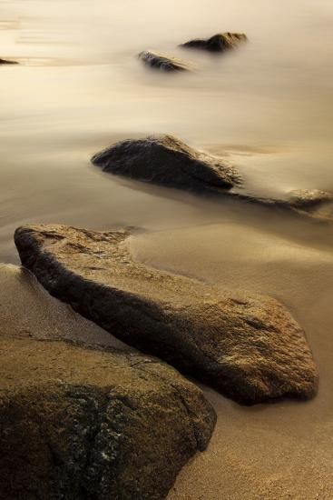 Dawn at Sand Beach in Maine's Acadia National Park-Jerry & Marcy Monkman-Photographic Print