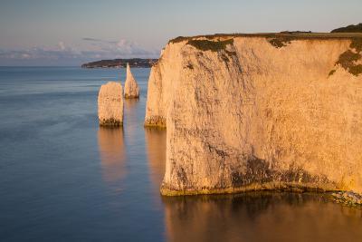 Dawn at the White Cliffs, Studland, Isle of Purbeck, Dorset, England-Brian Jannsen-Photographic Print