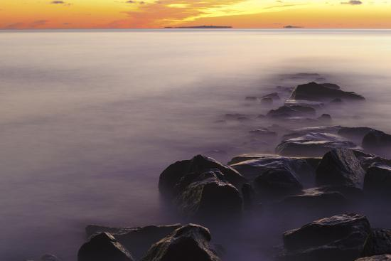 Dawn at Wallis Sands State Park in Rye, New Hampshire-Jerry & Marcy Monkman-Photographic Print