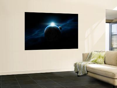 Dawn Breaks on an Alien Planet-Stocktrek Images-Wall Mural