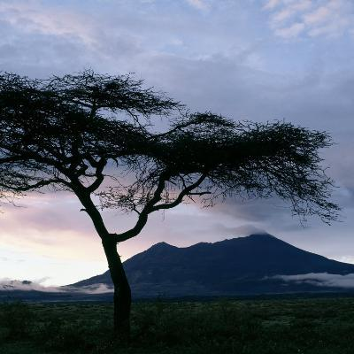 Dawn Breaks over Mount Meru, Tanzania-Nigel Pavitt-Photographic Print