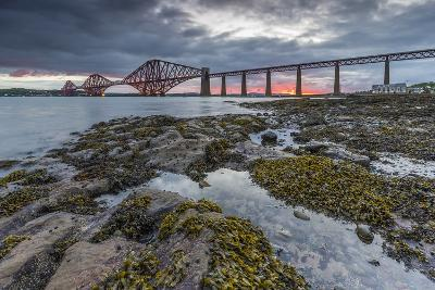 Dawn Breaks over the Forth Rail Bridge, UNESCO World Heritage Site, and the Firth of Forth-Andrew Sproule-Photographic Print