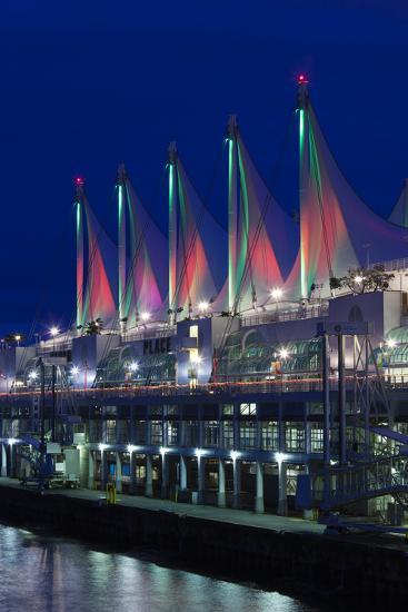 Dawn, Canada Place, Vancouver, British Columbia, Canada-Walter Bibikow-Photographic Print