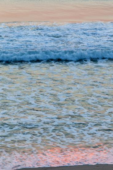 Dawn Colors Reflect in the Surf on Marconi Beach in the Cape Cod National Seashore-Jerry and Marcy Monkman-Photographic Print