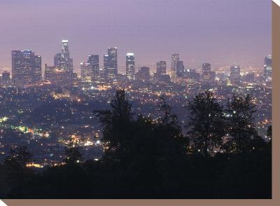 Dawn in Los Angeles from the Griffith Observatory-Rich Reid-Stretched Canvas Print