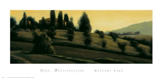 Dawn Montepulciano-Mallory Lake-Art Print