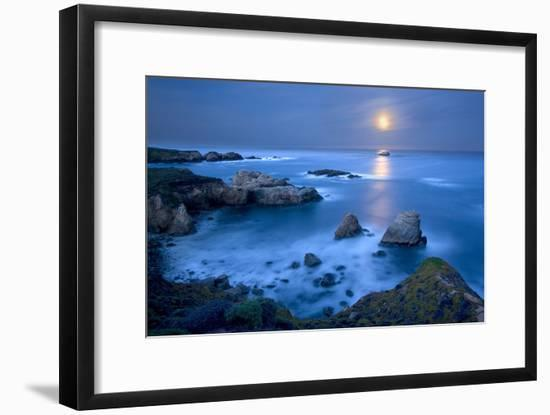 Dawn Moonset at Garrpata State Park-Don Smith-Framed Photographic Print