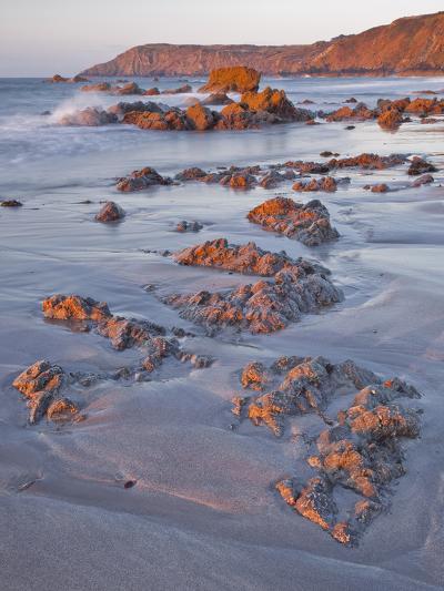 Dawn on Kennack Sands on the Lizard Peninsula in Cornwall, England, United Kingdom, Europe-Julian Elliott-Photographic Print