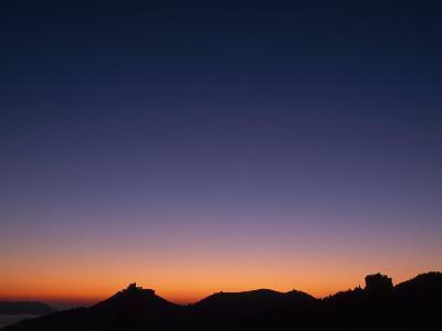 Dawn over Castle Trifels Near Town of Annweiler-Norbert Rosing-Photographic Print