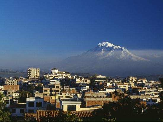 Dawn over Chimborazo, Ecuador's Highest Mountain at 6310M-Julian Love-Photographic Print