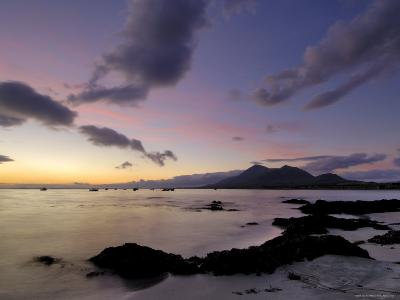 Dawn Over Clew Bay and Croagh Patrick Mountain, Connacht, Republic of Ireland (Eire)-Gary Cook-Photographic Print