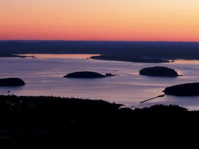 Dawn over Frenchman Bay, Acadia National Park, Maine, USA-Jerry & Marcy Monkman-Photographic Print