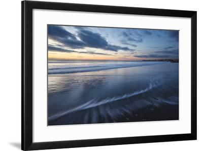 Dawn over the Atlantic Ocean at Wallis Sands SP in Rye, New Hampshire-Jerry & Marcy Monkman-Framed Photographic Print