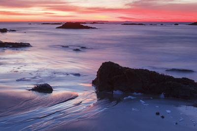 Dawn over the Atlantic Ocean in Rye, New Hampshire. Wallis Sands SP-Jerry & Marcy Monkman-Photographic Print