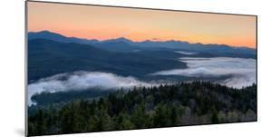 Dawn over the High Peaks from Goodnow Mountain, Adirondack Park, New York State, USA
