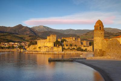 Dawn over Town of Collioure, Pyrenees-Orientales, Languedoc-Roussillon, France-Brian Jannsen-Photographic Print