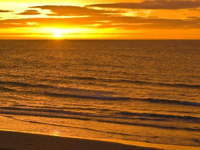 Dawn Rises Golden over Bass Straits Vast and Distant Horizon-Jason Edwards-Photographic Print