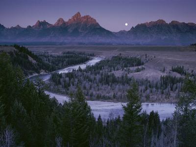 Dawn Strikes the High Ridge of the Teton Range-Raymond Gehman-Photographic Print