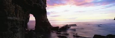 Dawn View over North Sea from Beach at Marsden Bay, South Shields, Tyne and Wear, England, UK-Lee Frost-Photographic Print