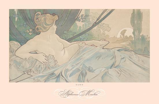 Dawn-Alphonse Mucha-Art Print