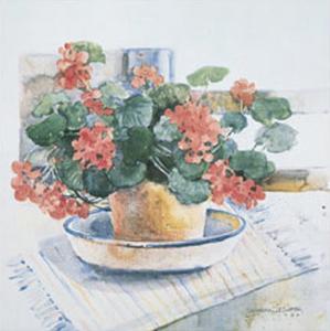 Geraniums, 1986 by Dawna Barton