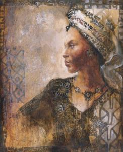Raffia Robed Lady I by Dawson