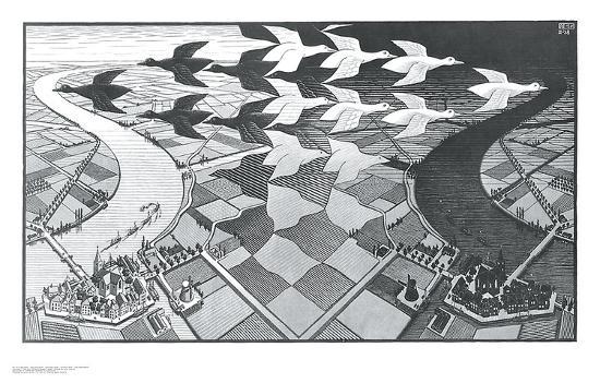 Day and Night-M^ C^ Escher-Art Print