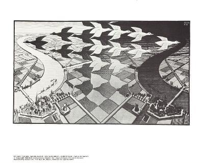 Day and Night-M^C^ Escher-Collectable Print
