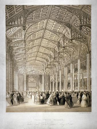 Interior of the Covent Garden Theartre, Bow Street, Westminster, London, 1845