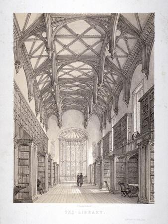 Interior View of the Library, Lincoln's Inn, Holborn, London, C1850