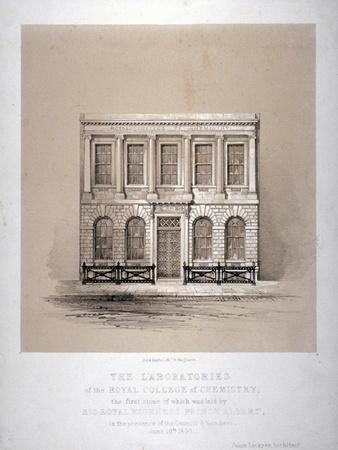 The Laboratories of the Royal College of Chemistry, Hanover Square, Westminster, London, 1846
