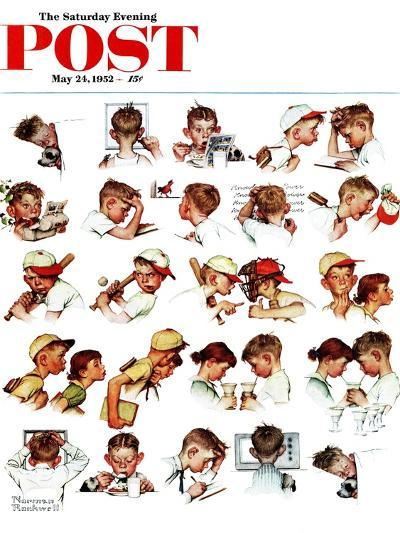 """Day in the Life of a Boy"" Saturday Evening Post Cover, May 24,1952-Norman Rockwell-Giclee Print"