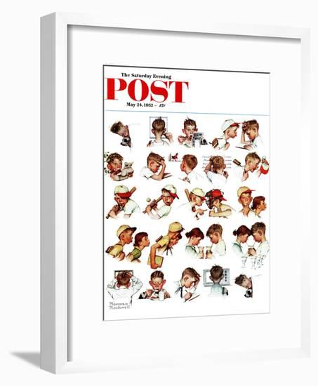"""""""Day in the Life of a Boy"""" Saturday Evening Post Cover, May 24,1952-Norman Rockwell-Framed Giclee Print"""