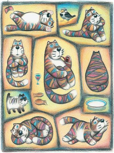 Day of a Cat-Marina Leskova-Giclee Print