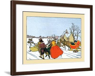 Day On The Ice- Maud & Miska Petersham-Framed Art Print