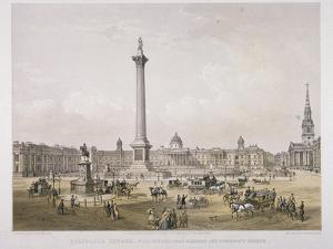 Trafalgar Square, Westminster, London, 1852 by Day & Son