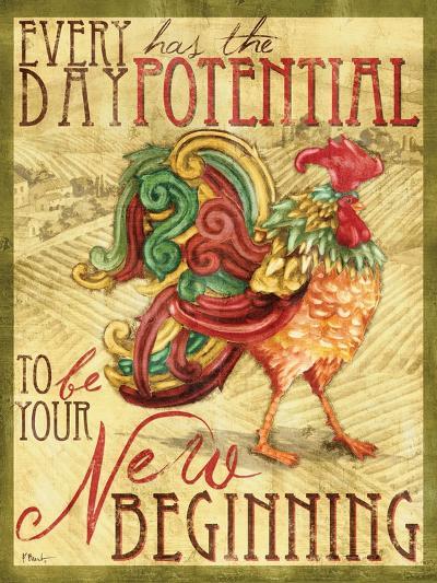 Daybreak Rooster I-Paul Brent-Art Print