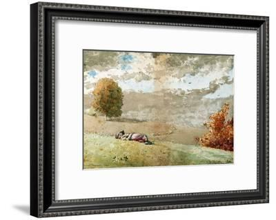 Daydreaming, 1880-Winslow Homer-Framed Giclee Print