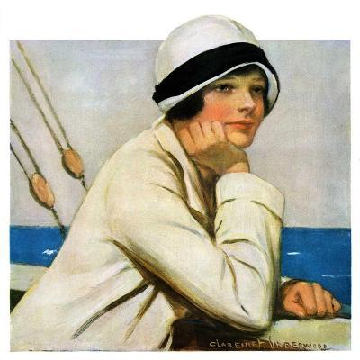 """""""Daydreams at Sea,""""March 20, 1926-Clarence F^ Underwood-Giclee Print"""