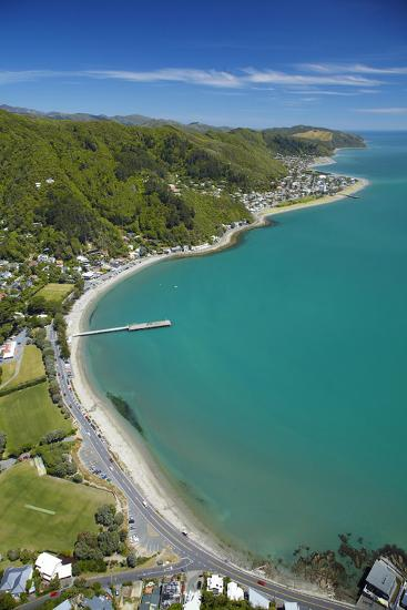 Days Bay, Eastbourne and Wellington Harbour, Wellington, New Zealand-David Wall-Photographic Print