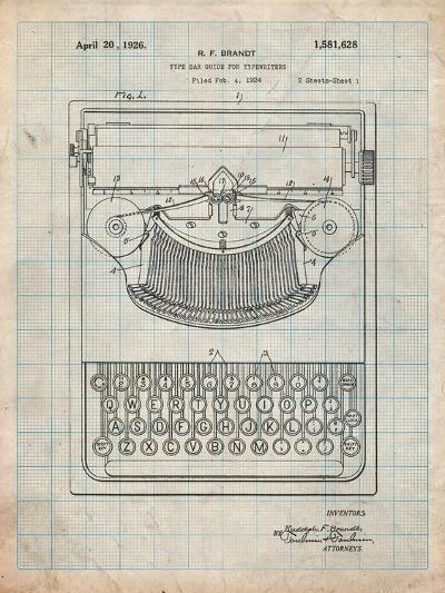 Dayton Portable Typewriter Patent-Cole Borders-Art Print